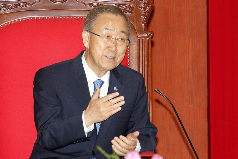 VN-chef Ban Ki-Moon. Beeld null