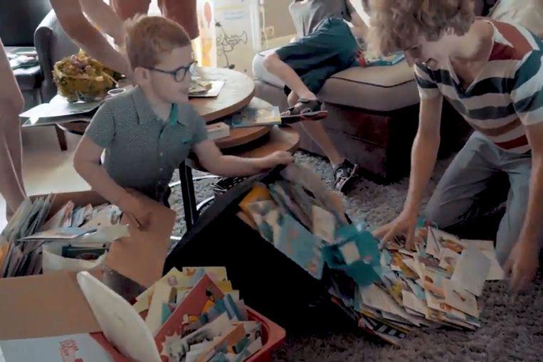 Thor (7) kreeg maar liefst 3.782 kaartjes in de bus nadat zijn mama een oproep deed via SOS HLN.