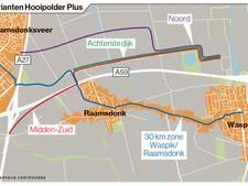 Knooppunt Hooipolder: krijgen Waspik en Raamsdonk een 30-kmzone of een parallelweg?