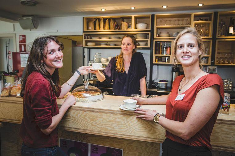 Marie, Rebekka en Lien in Kaffie is kaffie.