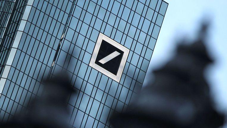 Het hoofdkantoor van de Deutsche Bank in Frankfurt am Main. Beeld afp
