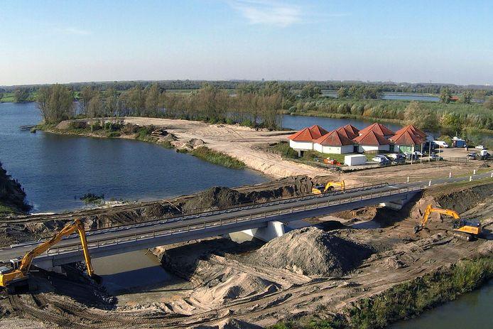 Werkzaamheden bij het Biesboschmuseum tijdens het project Ruimte voor de Rivier.
