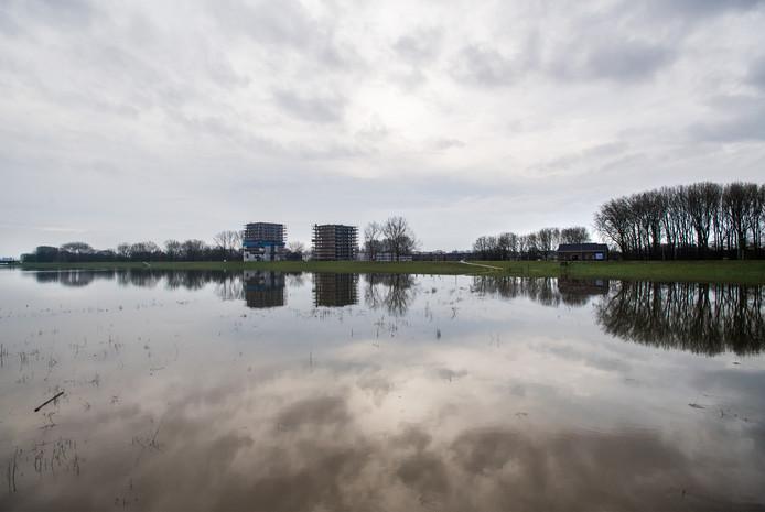 Arnhem-Zuid vanaf een afstand.