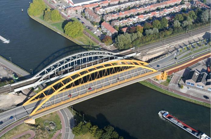 plek waar tweede spoorbrug in Utrecht over Amsterdam-Rijnkanaal moet komen