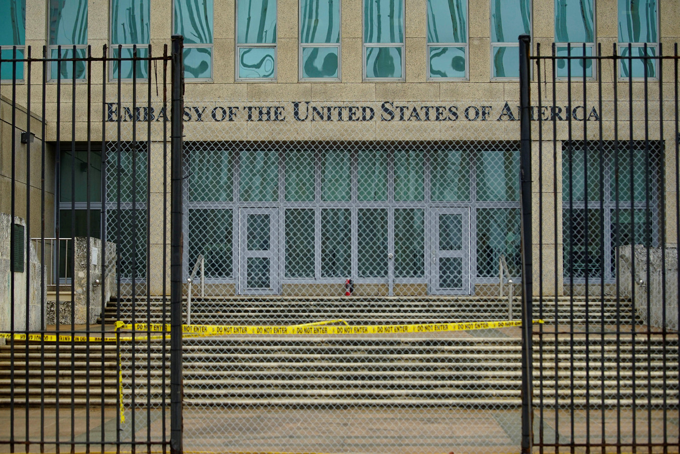 De Amerikaanse ambassade in Cuba.