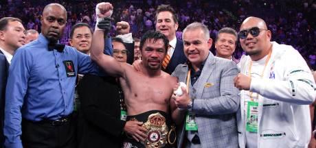 Pacquiao (40) oudste bokskampioen aller tijden