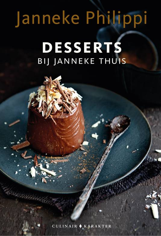 Cover van het boek, waarvan het recept hieronder te vinden is: chocolade panna cotta.