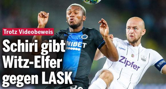 """""""Ondanks videobewijs: ref geeft penalty om te lachen tegen LASK"""""""