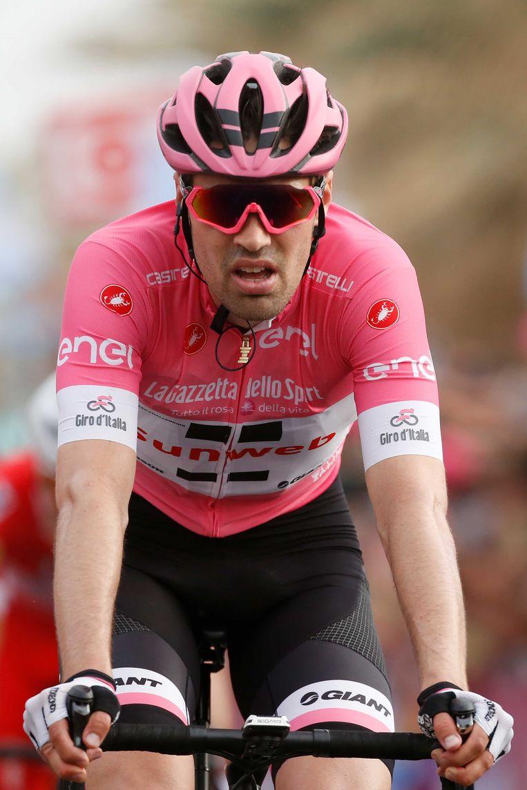 Dumoulin in de tweede etappe van de Giro. Beeld null