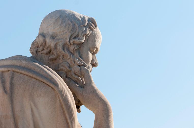 Een standbeeld van Socrates. Beeld Thinkstock