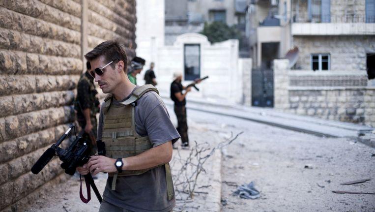James Foley in Aleppo in 2012. Beeld ap