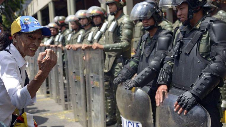 Aanhangers van de Venezolaanse oppositieleider Leopoldo Lopez protesteerden ook vandaag in Caracas.