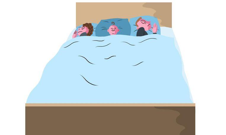 'Een kind dat af en toe 's nachts bang bij je komt, mag je natuurlijk in bed nemen' Beeld Nanne Meulendijks