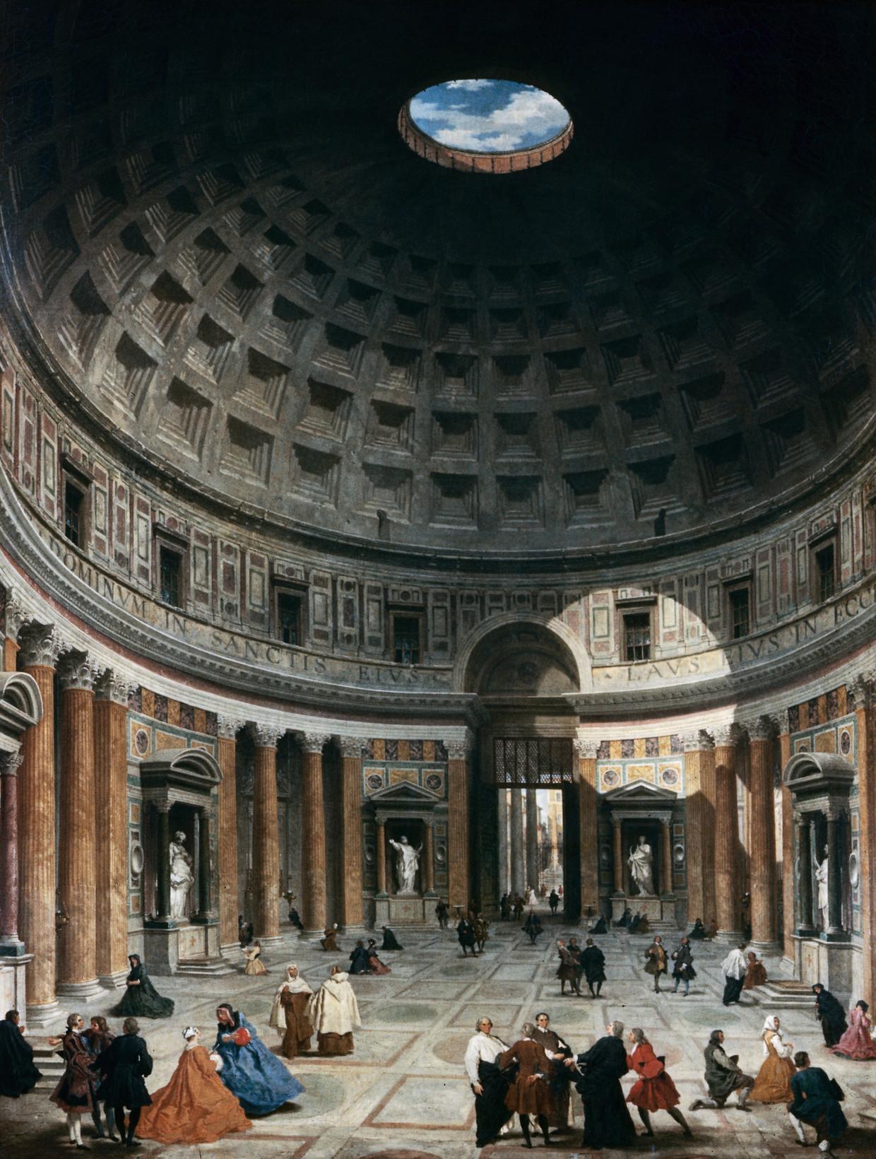 Giovanni Paolo Panini: Interieur van het Pantheon (1747).