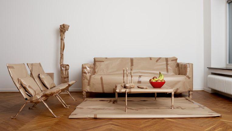 In studenten-complex Stek Oost kunnen bewoners een Ikea-meubelpakket leasen voor twintig euro per maand (minimaal twee jaar). Beeld Andreas Kindler/Getty Images