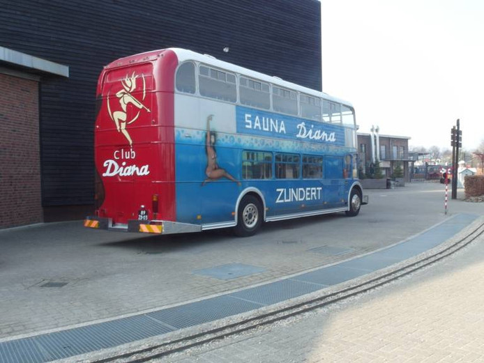 De bus van Sauna Diana uit Zundert.
