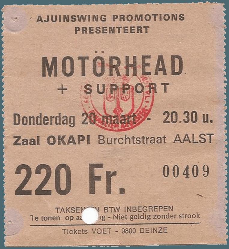 Jawel, Mötörhead speelde ooit in Aalst, hier het bewijs.