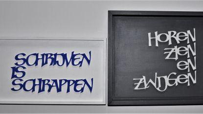 Jef's spreuken in kalligrafie te koop voor goed doel