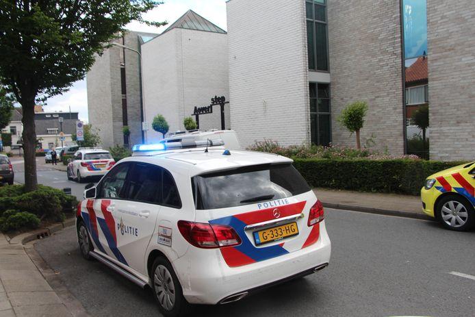 De Rapenburg ter hoogte van het vroregere kloostercomplex waarin nu een kleinschalige woonvorm is gevestigd, Aoverstep.