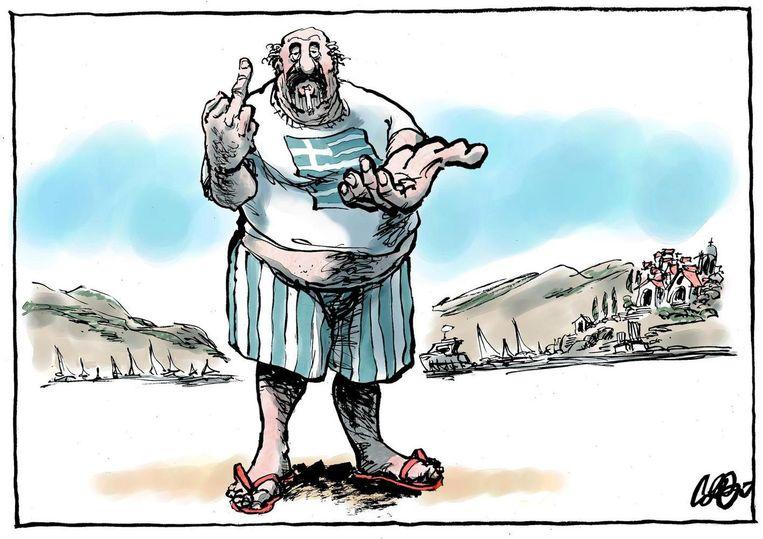 De meest bekeken cartoon van dit jaar Beeld Jos Collignon