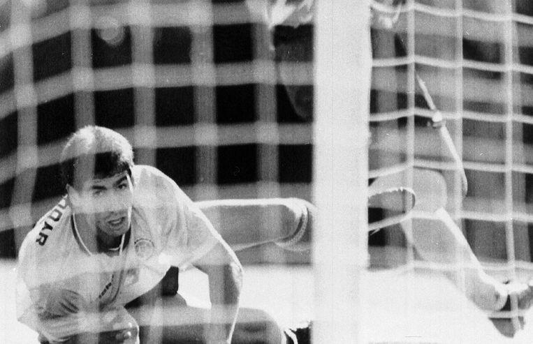 Andres Escobar op het WK 1994 in de States.