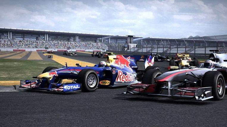 De game F1 2010 weet het Formule 1-racen goed na te bootsen. Beeld