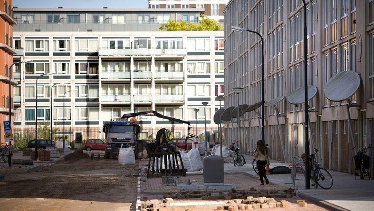 Nieuwbouw appartementen aan de Nierkerkestraat in Osdorp , Amsterdam Nieuw West. Foto Floris Lok Beeld