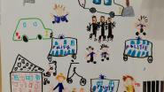 Kinderen Sint-Clara bedanken politie voor arrestaties voor schoolpoort