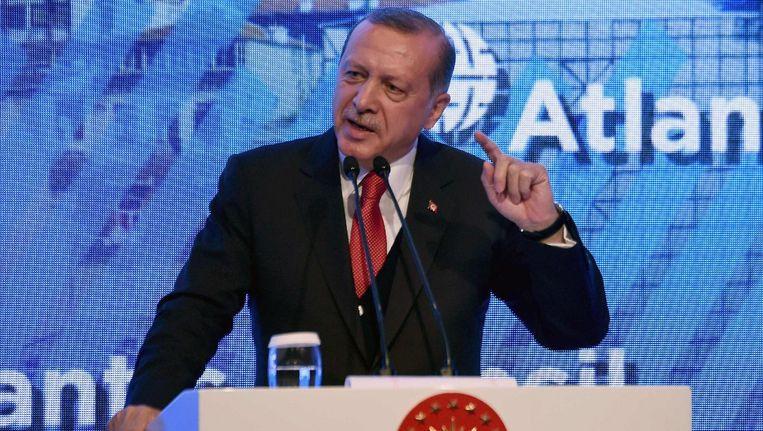 De Turkse President Recep Tayyip Erdogan. Beeld null