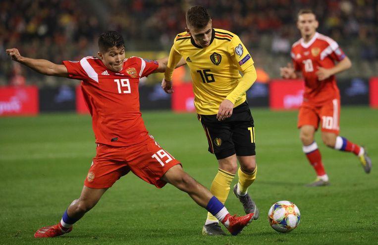 Thorgan Hazard tegen Rusland.