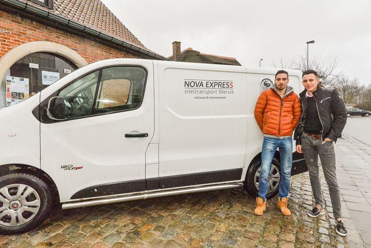 Wervik  Broers Dave (links) en Brian Noyelle zijn in de Klijtbosstraat met hun sneltransportzaak Nova Express gestart.