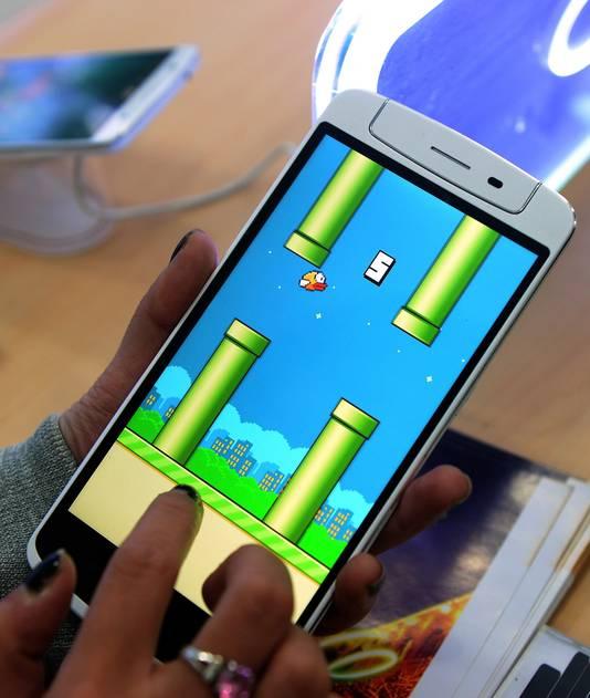 Het computerspelletje Flappy Bird.