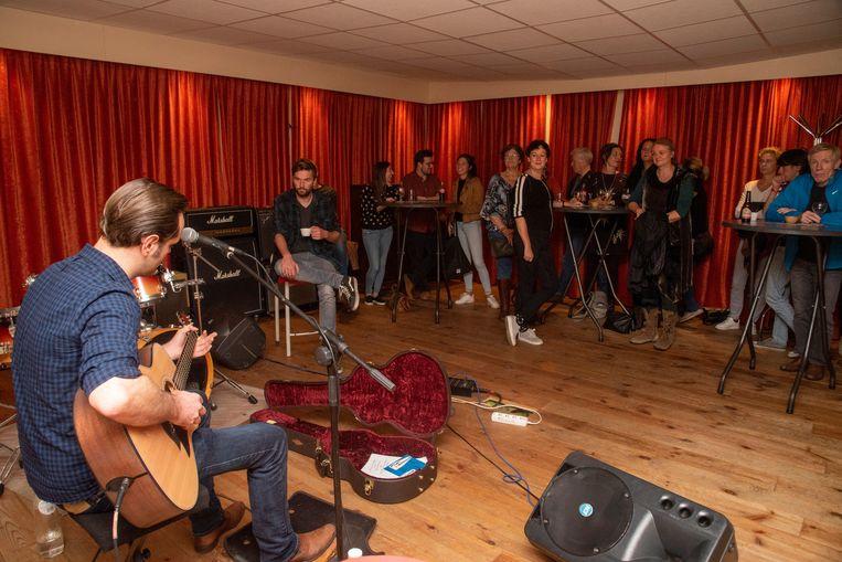 Opendeur bij stuudio in Wetteren met live muziek van onder meer Piet Vercauteren.