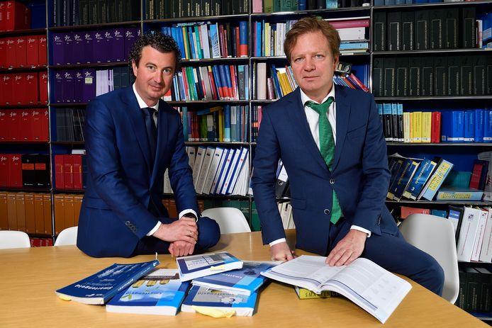 Advocaten Sander de Lang (links) en Martin de Witte.