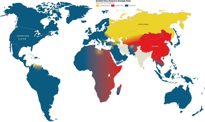 Wereldkaart invloedssferen.