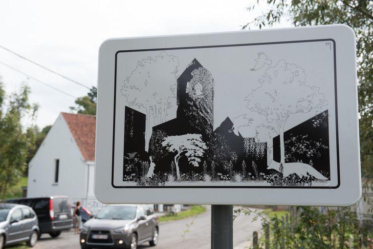 Een verkeersbord dat veel te vertellen heeft over de bebouwde kom.