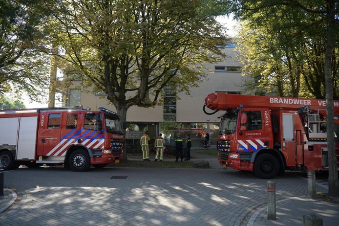 Brand in een seniorenflat in Eindhoven.