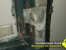 Harde knallen in Kerkdriel en Tiel: voordeur en ruiten sneuvelen