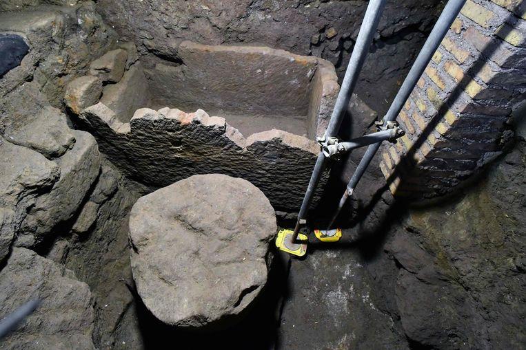 De tombe die zou behoren aan Romulus.  Beeld AFP
