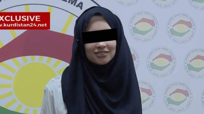 Laura H. na haar ontsnapping op een Koerdische tv-zender.