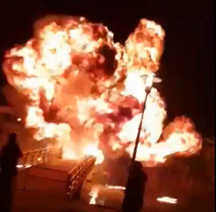 Twee jaar geleden ontplofte in Monster een vuurwerkbom op een voetgangersbrug.