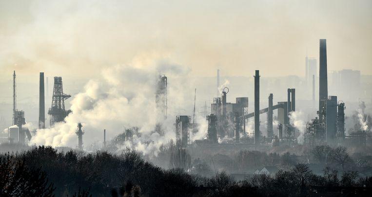 Een olieraffinaderij van BP in het Duitse Gelsenkirchen. Beeld AP
