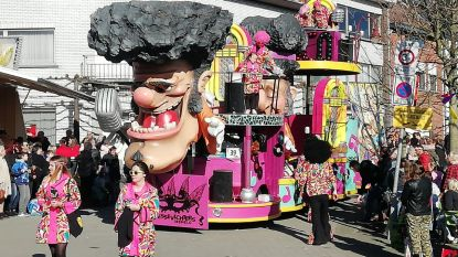 Zonnige en kleurrijke carnavalstoet rond basiliek van Scherpenheuvel