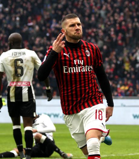 Rebic helpt AC Milan met late goal aan winst op Udinese