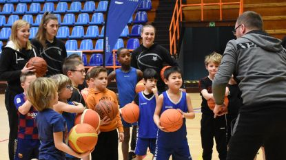 Kinderen krijgen basketbalinstuif in aanwezigheid van Belgian Cats