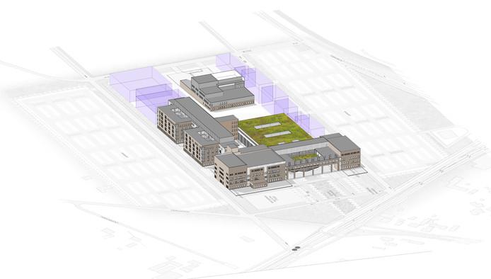 Een van de ontwerpen voor het nieuwe ziekenhuis Bernhoven uit 2008.