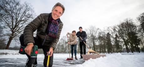 IJsclub Biltsche Meertje heeft handjes nodig om de baan sneeuwvrij te maken