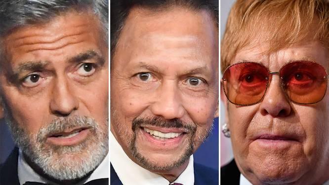 Elton John en George Clooney boycotten hotels uit protest tegen sharia-wetten