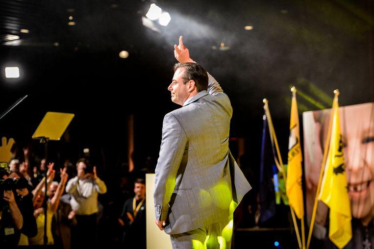 N-VA-voorzitter Bart De Wever na de verkiezingen van 25 mei.