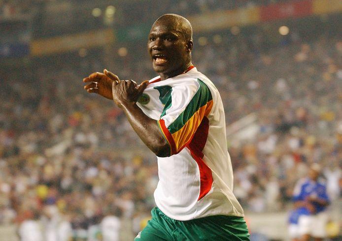 Diop na zijn doelpunt tegen Frankrijk.